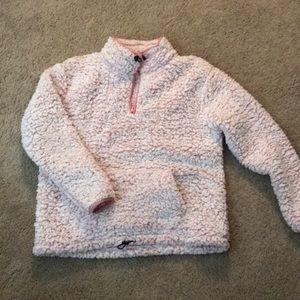 Pink Sherpa quarter-zip